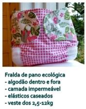 A fralda de pano ecológica é a fralda de pano moderna, que respeita a pele da criança, o meio ambiente e principalmente o seu orçamento famailiar. www.lojababyslings.com.br