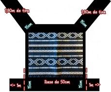 carregador mochila meitai preto tribal