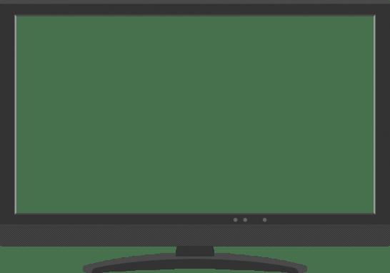 デジタル液晶テレビ(薄型TV)のイラスト<画面:フレーム>
