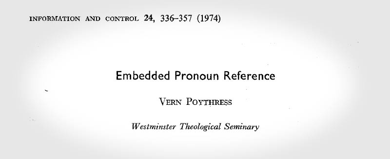 Embedded Pronoun Reference