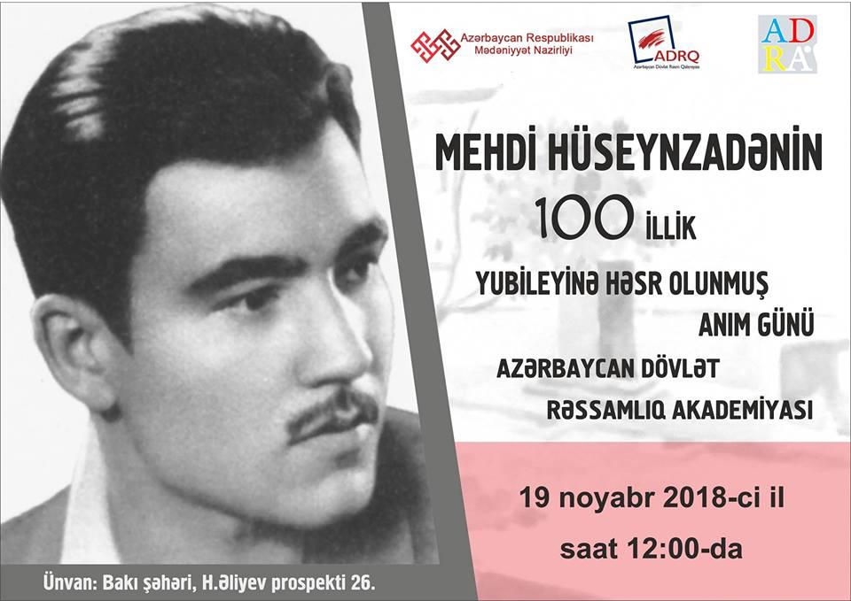 Sovet İttifaqı Qəhrəmanı və rəssam Mehdi Hüseynzadənin anım günü keçiriləcək
