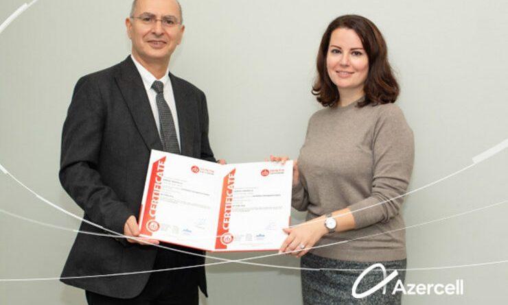 """Azercell növbəti dəfə """"Antikorrupsiya idarəetmə sistemi"""" standartlarına uyğunluq sertifikatına layiq görüldü"""