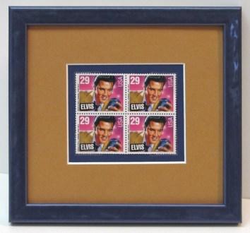 Elvis, the Vegas years, custom framed at the Frame & I gallery in Prescott. He's rocking the music note frame!