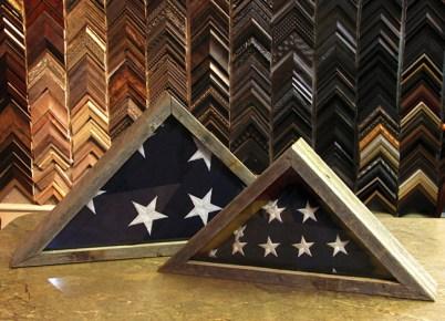 Rustic Memorial Flags