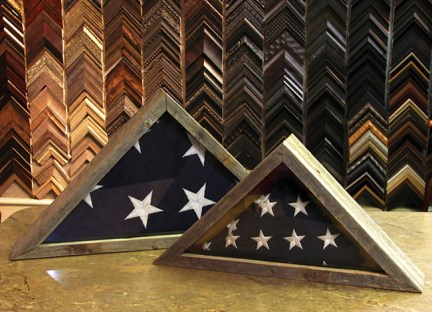 Memorial Flags Rustic