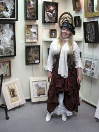 Steampunk Opera fundraiser at the Frame and I Prescott art gallery