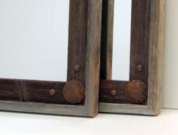rustic reclaimed wood mirror frames