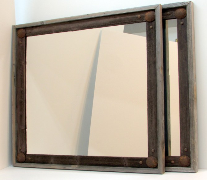 rustic reclaimed wood mirrors