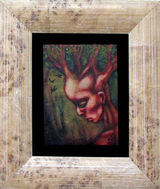 green man framed
