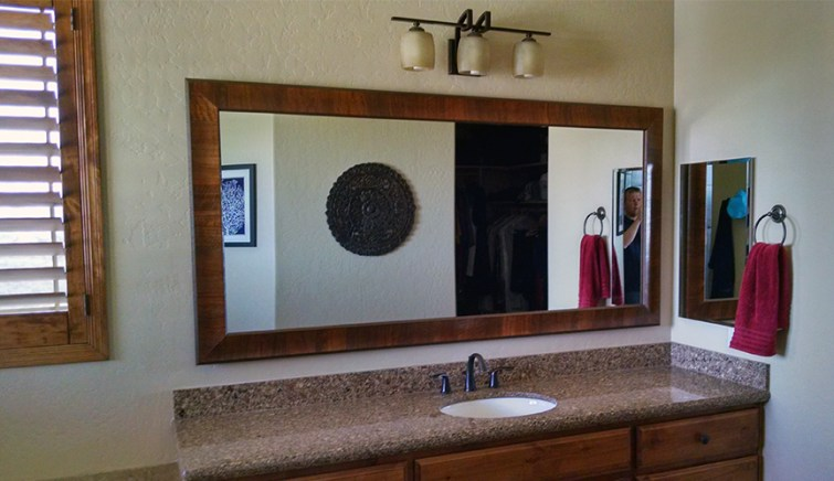 custom framed mirror prescott
