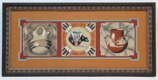 sandpainting triptych