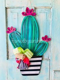 Cactus Door Hanger Workshop  Framed!