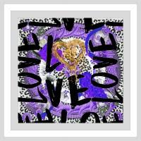 """BY Jodi """"Love Me In Purple"""" Framed Plexiglass Wall Art ..."""