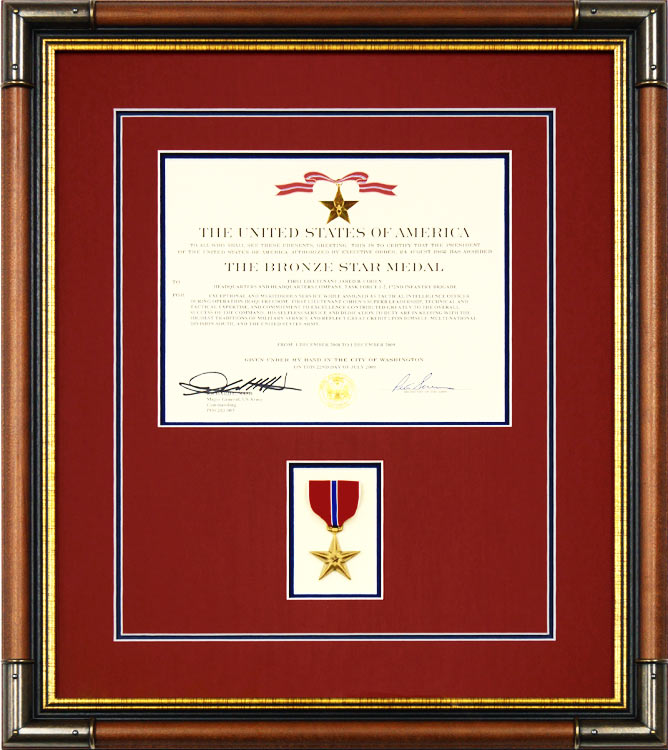 Bronze Star Certificate