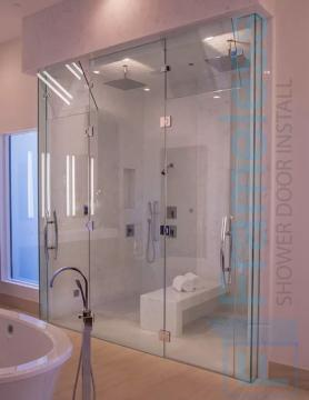 79 Custom Frameless Glass Enclosure Shower Door Installation Dividers 3