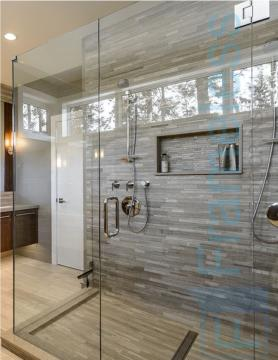 83 Custom Frameless Glass Enclosure Shower Door Installation splash back 1