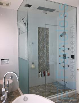 86 Custom Frameless Glass Enclosure Shower Door Installation Glass Enclosures 3
