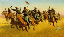 "ADVANCE AS SKIRMISHERS, CHARGE! by Frank McCarthy Image size 18 X 30"" In stock and available Current price - Call"