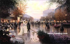 CAFE MADELEINE by Christa Kieffer In stock and available - Current price $135