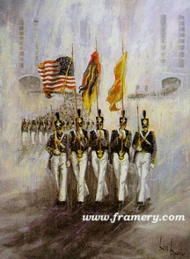 "THE COLOR GUARD by Ben Maile In stock and available Image size: 27 X 20"" Issue price - $185 Signed/Numbered Edition of 1500"