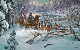 CONFEDERATE CROSSING General N. B. Forrest at Owens Ford, Nov. 28, 1864 Image size: 18 X 28 In stock and available Current Price - $225