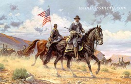 HENRY OSSIAN FLIPPER by Dale Gallon Lt. Flipper scouts with A Company, 10th Cavalry Regiment near the Rio Grande River, Tex., 1880. In stock and available Current price - Call