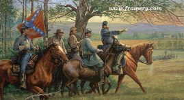 JACKSON IN THE VALLEY by Dale Gallon Gen. Stonewall Jackson prepares for The Valley Campaign, Spring 1862. In stock and available Current price - $200