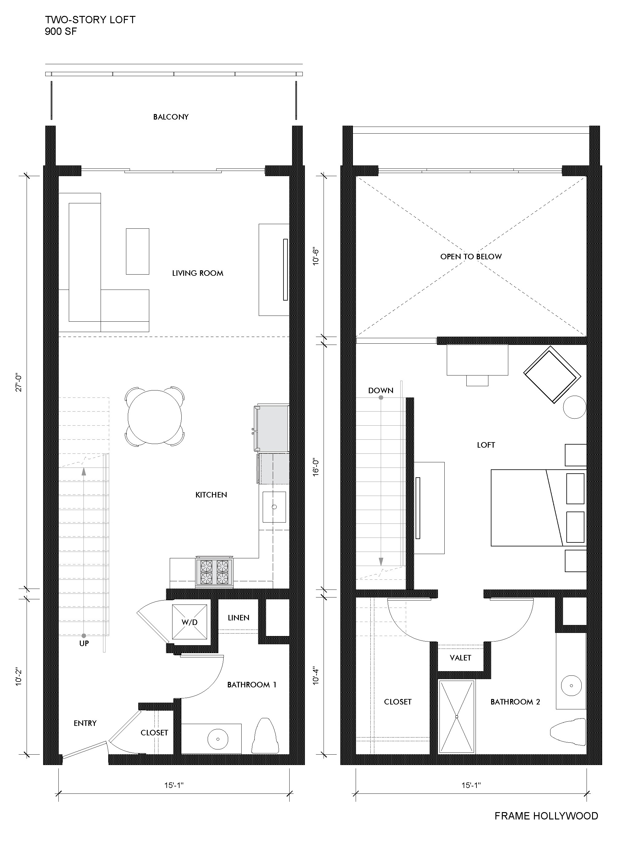 hight resolution of junior 2 story loft with 19 ceilings frame hollywood loft