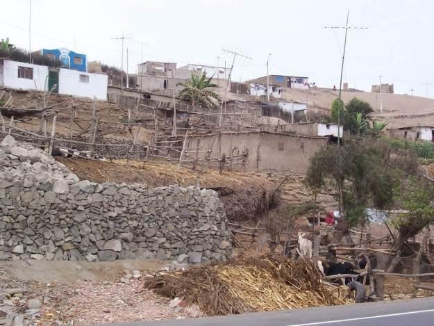 Desert homes near Playa Sarcpampa in Peru
