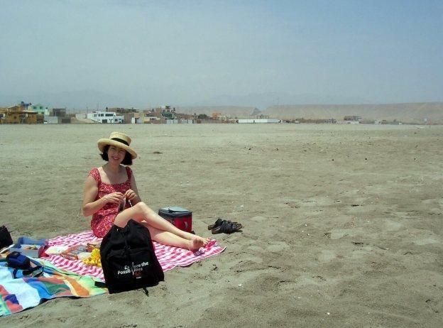 on the beach at playa sarcpampa, peru