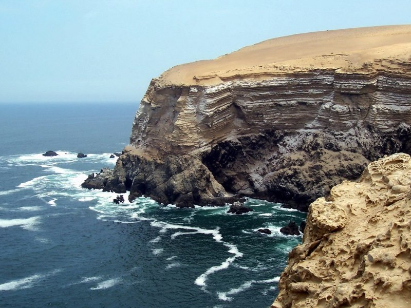pacific ocean cliffs at National Reserve of Paracas - Peru