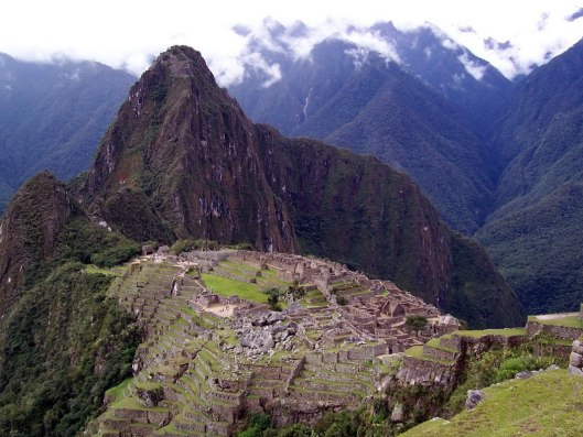 An image of Machu Picchu in Urubamba Province, Peru.