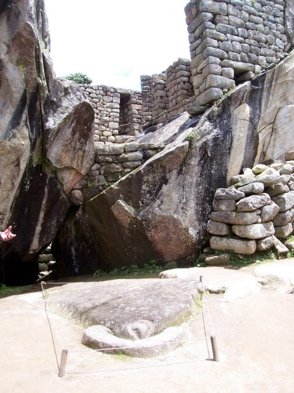 An image of the Temple of the Condor at Machu Picchu in Urubamba Province, Peru.