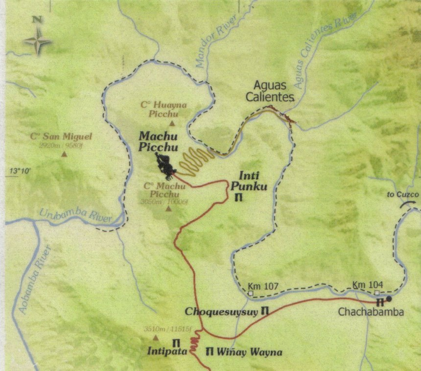 inka-trail-map - peru