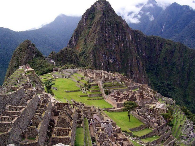 Machu Picchu in Urubamba Province, Peru.