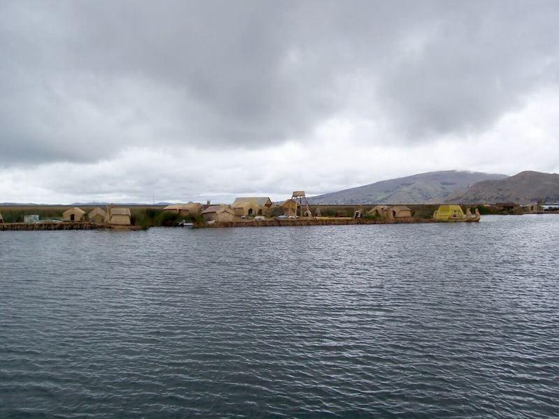 uros floating islands, lake titicaca, peru