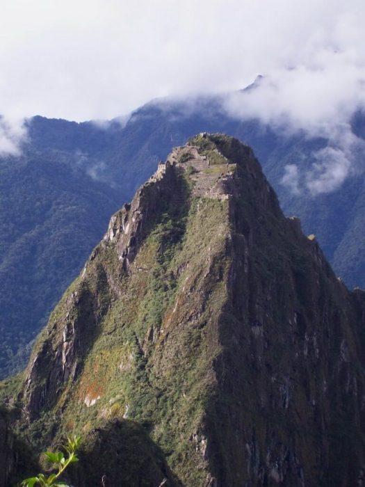 View of Huayna Picchu mountain at Machu Picchu, Peru