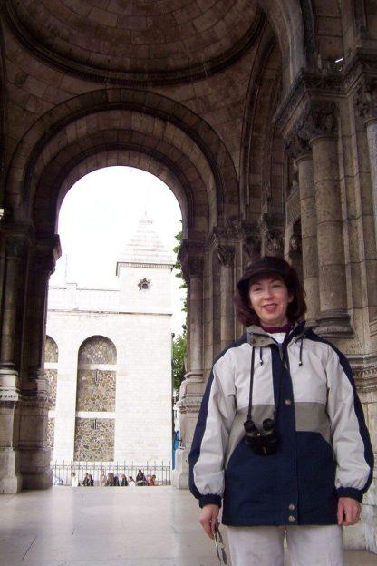 Basilique du Sacre Coeur - Jean at front entrance - Montmartre - Paris