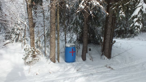 Emergency barrels - first aid kit - matches - duct tape - fire starter - Algonquin Park - Ontario