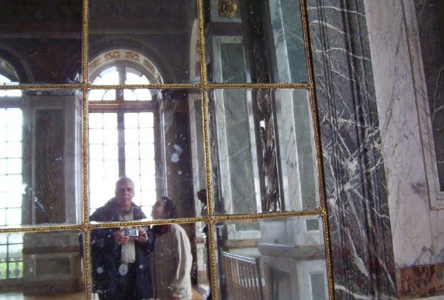 Hall of Mirrors, Jean and Bob - Palace of Versailles - France