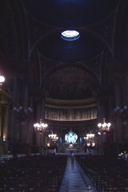 Interior of La Madeleine Church - Paris - France