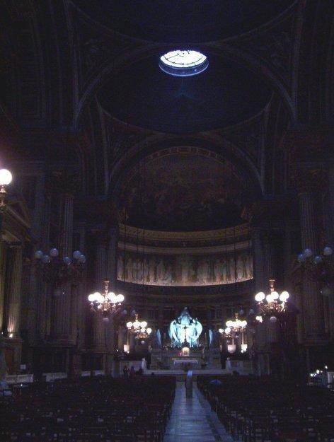 Interior of La Madeleine Church - Paris - France