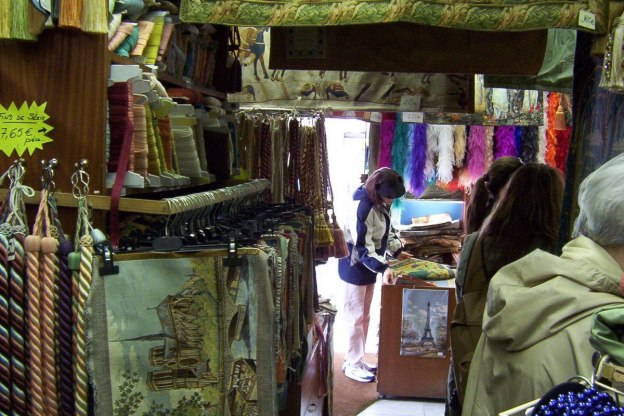 Jean in Paris textile store