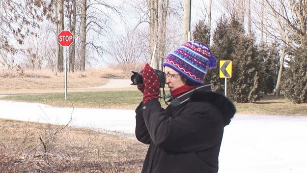 Jean takes pictures near Thickson's Woods, Whitby, Ontario