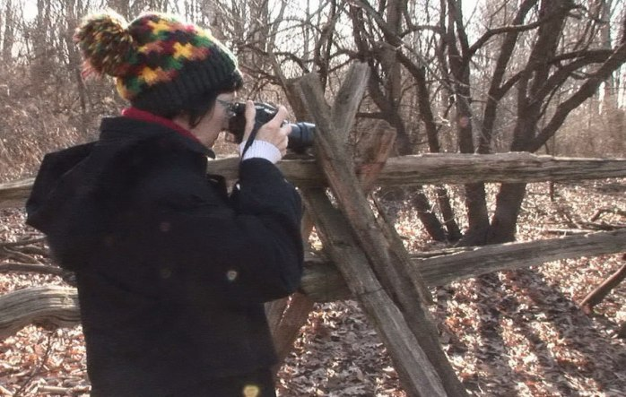 Jean takes picture of wild turkeys - Lynde Shores Conservation Area, Whitby, Ontario