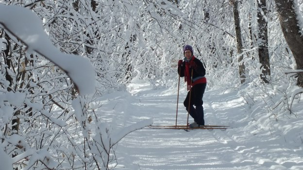 Jean x-country skiing in Algonquin Park - Ontario