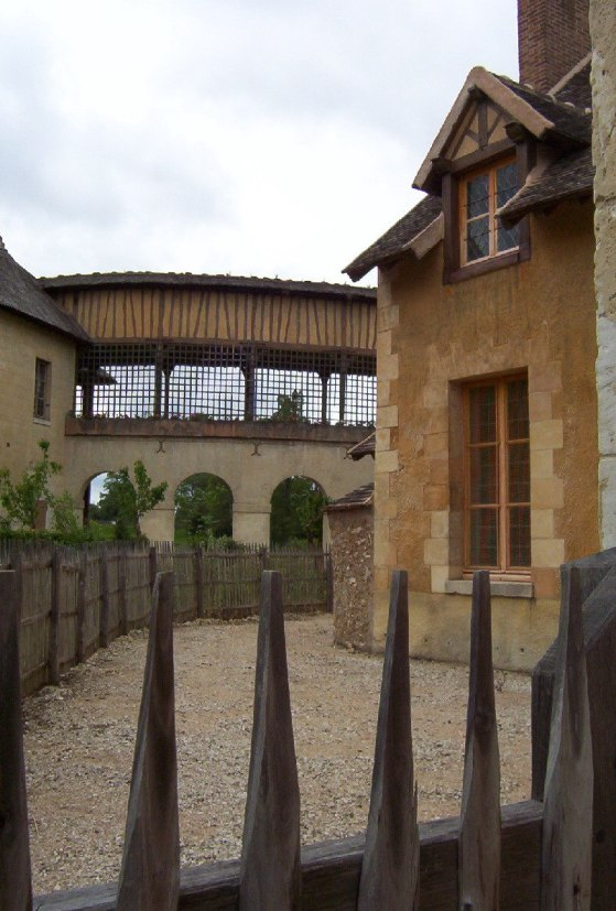 Marie Antoinette's estate gardens - The Queen's House walkways- France