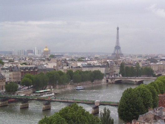 Cloudy morning skyline in Paris, France