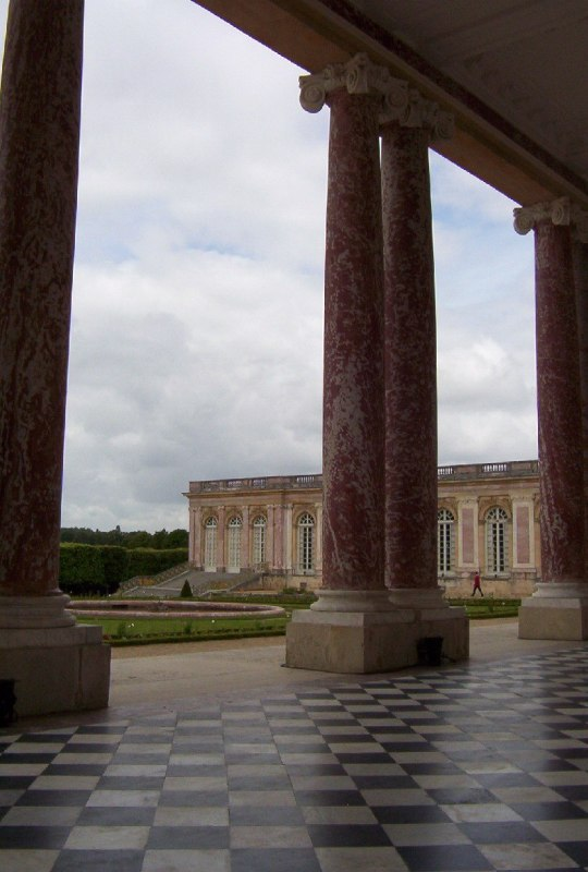 The Grand Trianon - view through arches - Domain of Versailles - France