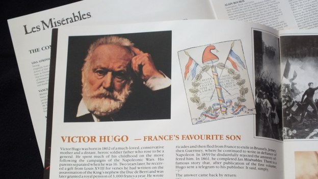 Victor Hugo - picture with Les Miserables folder